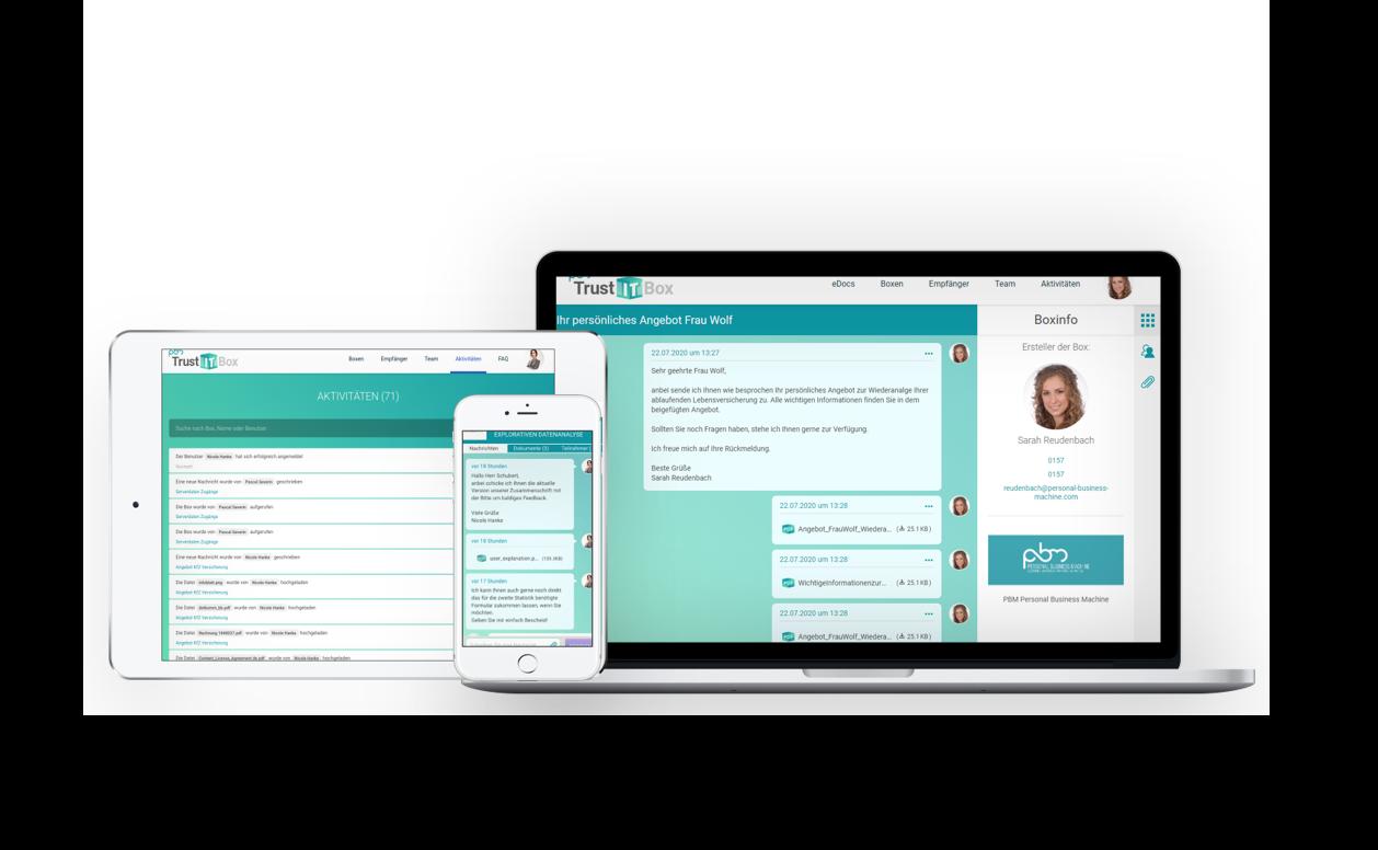 Online sicher, schnell und smart kommunizieren – PBM TrustITBox